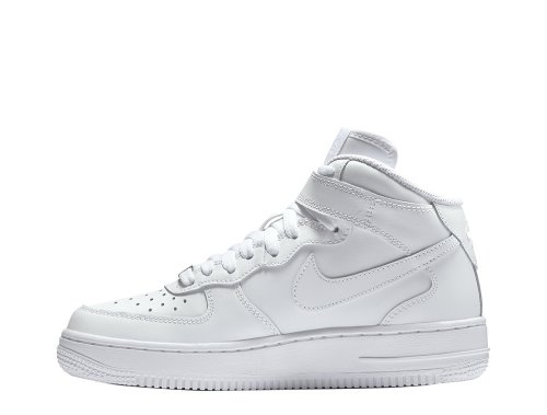 "nike air force 1 mid (gs) ""all white"" białe"