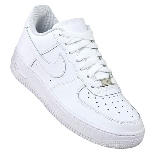 "nike air force 1 low (gs) ""all white"" białe"