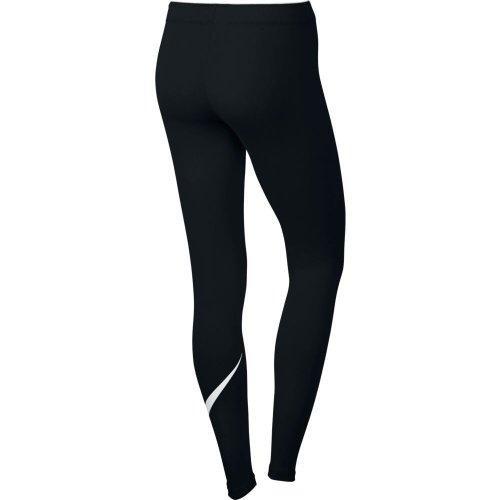 nike sportswear swoosh leggings czarne