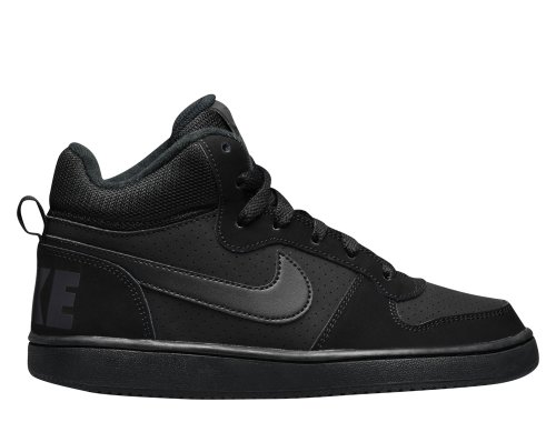 nike court borough mid (gs) czarne