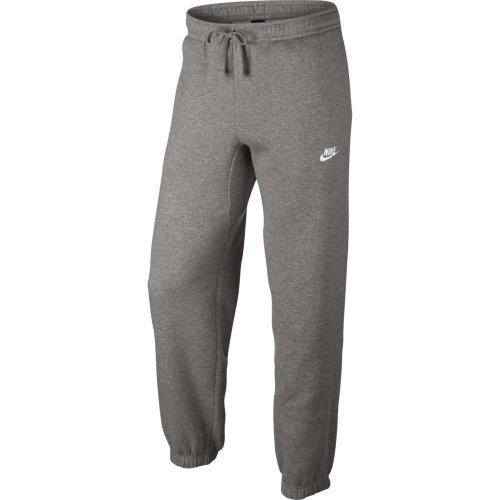 nike sportswear standard fit fleece trousers szare