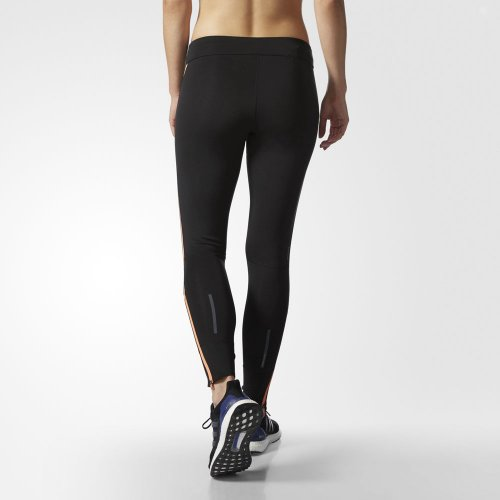 adidas black response long tight w czarne