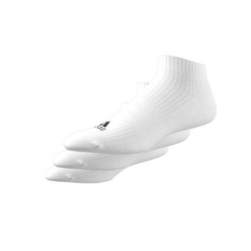 adidas 3-stripes no-show socks 3 pairs białe