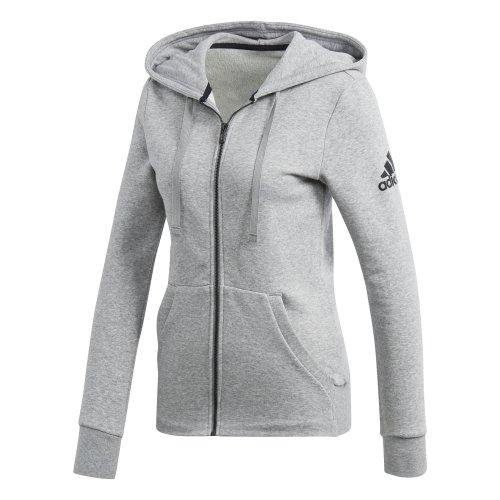 adidas essentials solid full zip hoodie szara