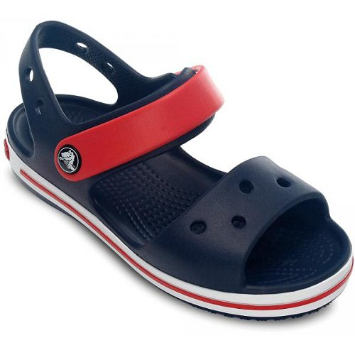 crocs crocband sandal kids granatowo-czerwone