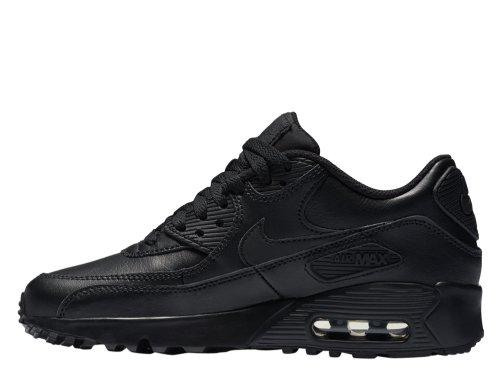 nike air max 90 leather (gs) czarne