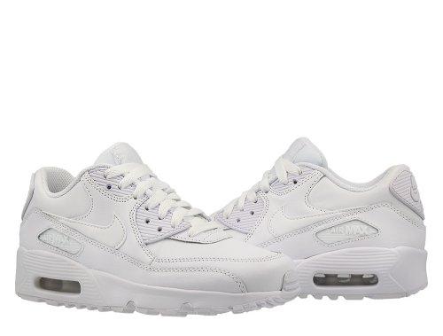 nike air max 90 leather (gs) białe