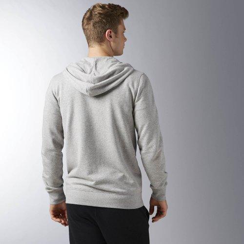 reebok elements seasonal ft full zip hoodie szara