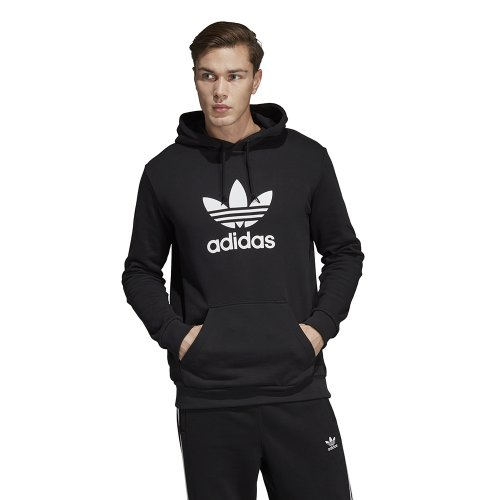 Sklep: adidas bluza adidas originals trefoil hood biała