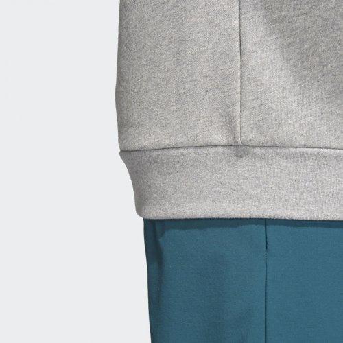 adidas trefoil crew szara