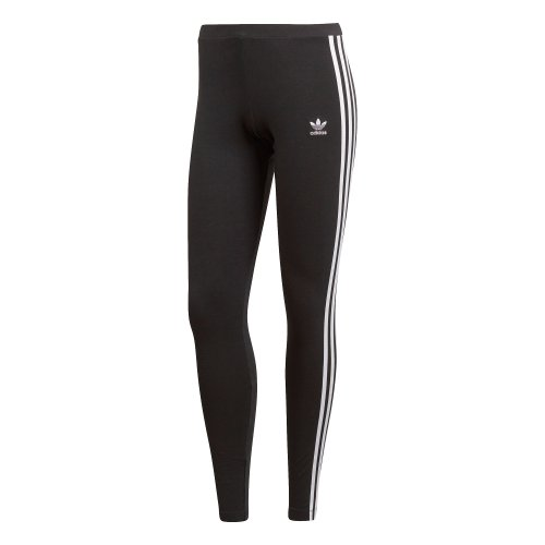 adidas 3 stripes leggings czarno-białe