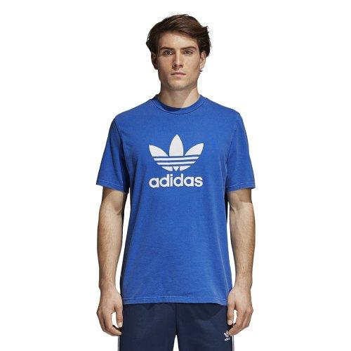 adidas trefoil tee niebiesko-biała