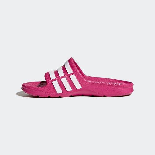 adidas duramo slide k różowo-białe