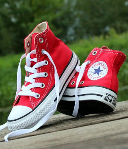 converse chuck taylor all star hi czerwono-białe