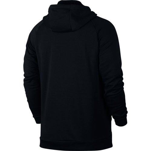 nike mk dry hoodie fz fleece czarna