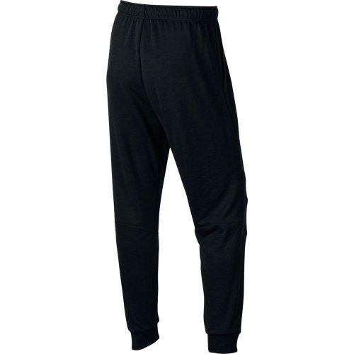 nike dri-fit fleece training trousers czarne