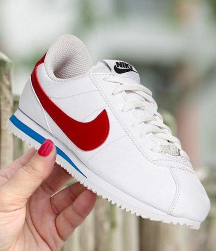 nike cortez basic sl (gs) biało-czerwone