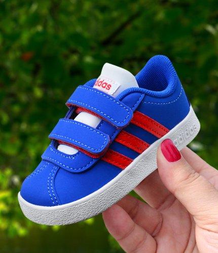 adidas vl court 2.0 cmf i niebiesko-czerwone