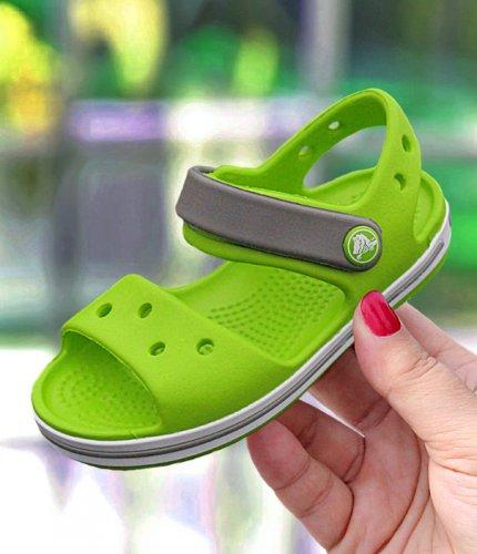 nowe przyloty produkty wysokiej jakości przedstawianie Crocs Crocband Sandal Kids zielono-szare