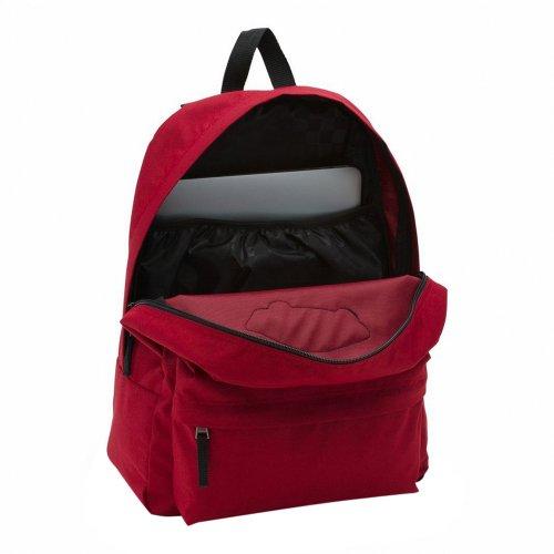 vans realm backpack czerwono-czarny