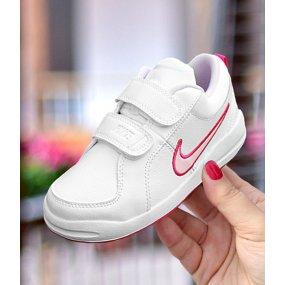 Nike Pico 4 (PSV) dla dzieci biało granatowe [454500 101