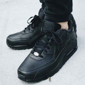 Nike Air Max 90 Leather Męskie Czarne (302519 001)