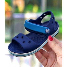nowy przyjazd butik wyprzedażowy Nowa lista Sandały dla dzieci Crocs Crocband Sandal Kids granatowo ...