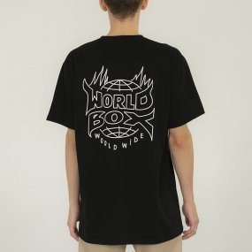 worldbox black flame tee (wbko‑flame‑blk)