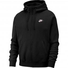 nike nsw club hoodie fz (bv2645‑010)