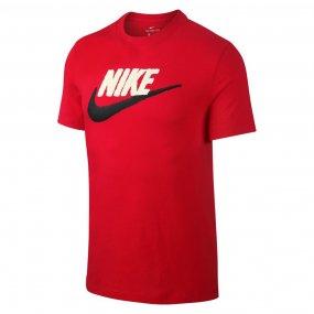 nike nsw tee brand mark męska czerwona