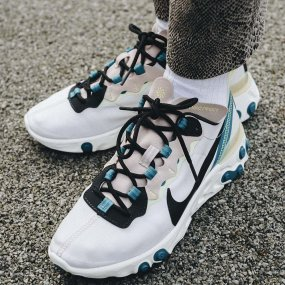 nike w react element 55 damskie szare (bq2728‑202)