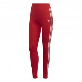 adidas 3‑stripes tight damskie czerwone