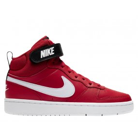 nike court borough low 2 (gs) czerwone
