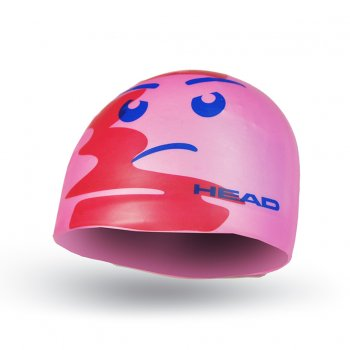 czepek head silicone sketch pink face