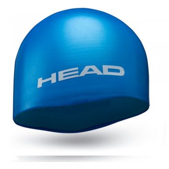 czepek head silicone moulded light blue