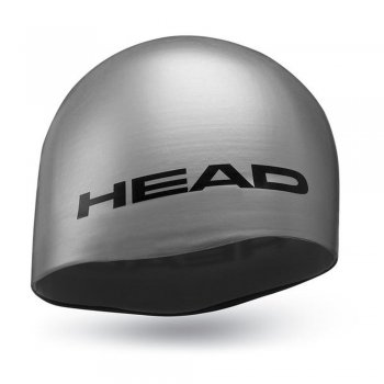czepek head silicone moulded silver