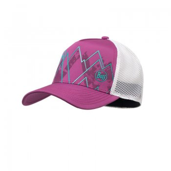czapka buff trucker tech cap solid violet