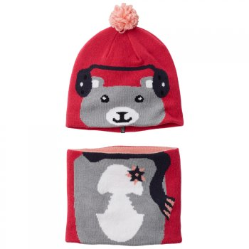 komplet columbia snow more™ beanie and gaiter set toddler cactus pink