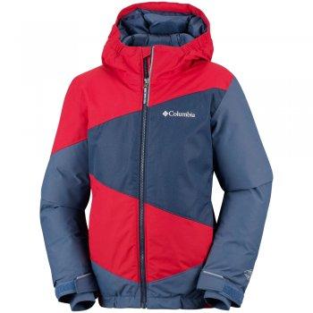 columbia wildstar™ jacket czerwono‑granatowa