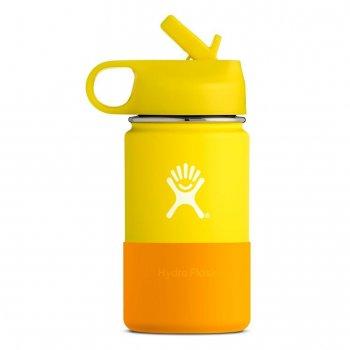 kubek hydro flask 12 oz kids‑lemon