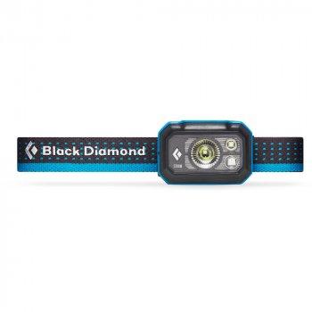black diamond storm 375 headlamp grafitowo‑niebieska