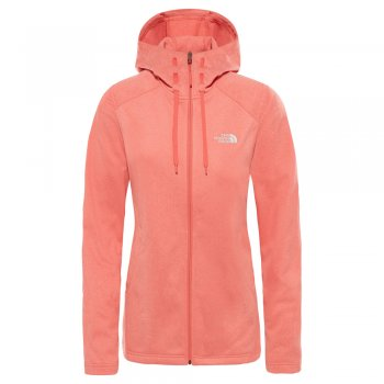 bluza the north face w tech mezzaluna hd spiced cor