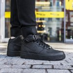 "nike air force 1 mid junior ""all black"" (314195-004)"