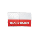 """flaga polska euro 2016 """"gramy razem"""""""