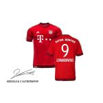 koszulka adidas fc bayern monachium 15/16 h lewandowski autograf