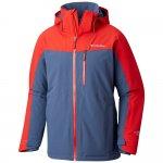 kurtka columbia wild card insulated waterproof jacket m czerwono-szara