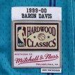 mitchell & ness nba swingman jerseys charlotte hornets - baron davis #1 (smjygs18409-choteal9)