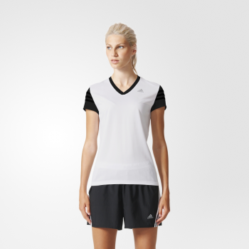 koszulka adidas response cap short sleeve tee w czarno-biała