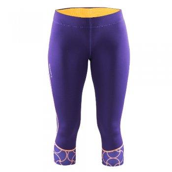 spodnie craft devotion capri w fioletowe