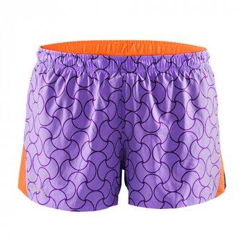 spodenki craft focus race shorts w pomarańczowo-fioletowe